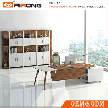 Modern Office Furniture L Shaped Executive Office Desk With Hutch For Sale