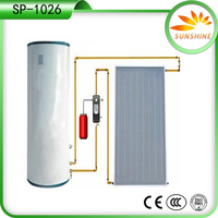 100L New copper coil heat exchange solar water heater