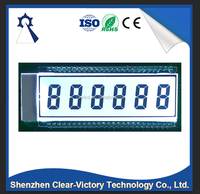 High quality 6 digit segment lcd, custom lcd, oem available