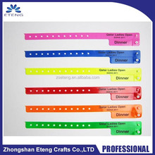 Best selling disposable Vinyl ID Wristband Bracelet of event party