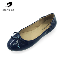 New Fashion Navy blue leather party dress flat casual dress shoes for girls