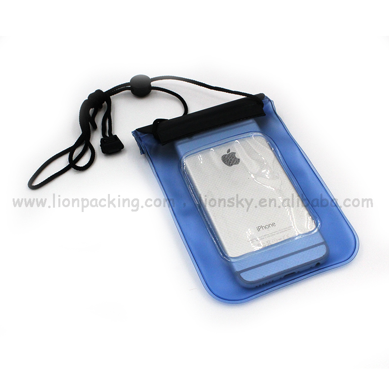 Customized clear tiny phones PVC pouches