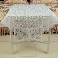 Hot selling custom design well-made satin embroidered tablecloth with hand cutwork