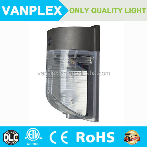 Vanplex wholesale ip65 outdoor non-cutoff 25w 18w led mini wall pack light with photocell dlc listed