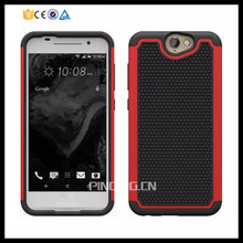 2 in 1 pc silicone hybrid football texture cell phone case for htc one a9