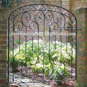 wrought iron garden arch design gate door iron doors custom metal doors