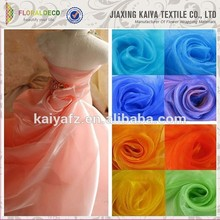 Popular yarn dyed soft dress fabric polyester nylon organza