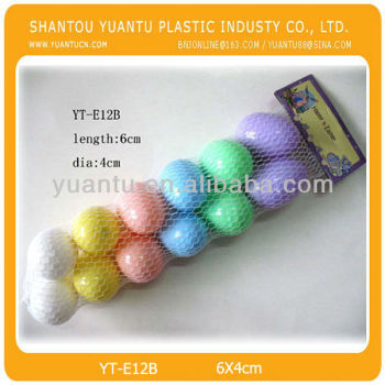 Pastel color 12pcs/set plastic easter egg container