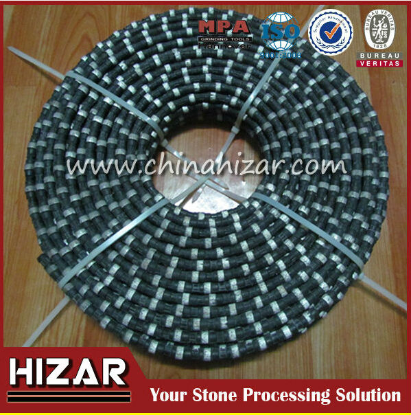 Marble quarrying spring wire saw, diamond saw wire for marble,granite