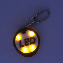 USB rechargeable led light up safety dog charm