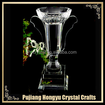 good quality crystal world cup champagne trophy