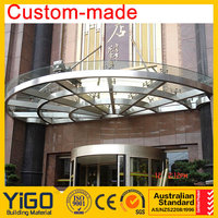 Foshan factory glass roof manufacturer, glass canopy
