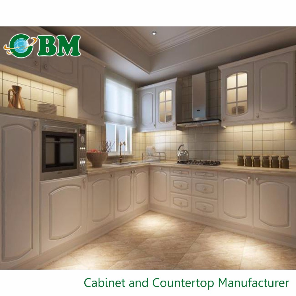 Modern kitchen cabinet solid wood buy kitchen cabinet for Solid wood kitchen cabinets