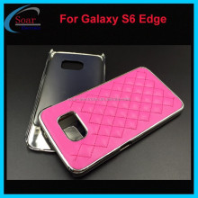 New design PC cover case for Samsung galaxy S6 Edge,lagging style leather case for Samsung galaxy S6 Edge