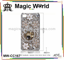 low glitter crystal crown shaped cell phone case for samsung galaxy note 3