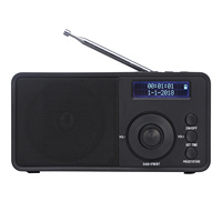 Newest digital DAB/FM radio built-in rechargeable battery dab fm radio with bluetooth/AUX/alarm clock function