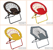 Promotion new design light weight moon chair top quality folding round bungee beach chair