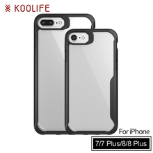 New products TPU PC Clear Back Cover Luxury Phone case for iPhone 7 case