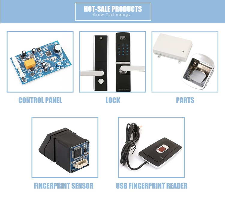 GROW Enclosure of R301T R302 R303S and G10 G11 fingerprint cabinet lock and chip of model FPC1011F3