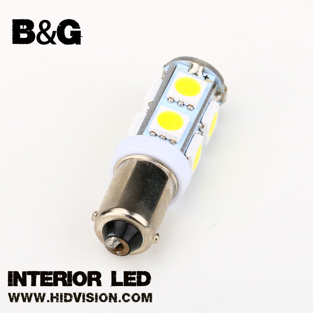 BA9S-5050-13SMD Car Ba9s 5050 13smd LED Amber Interior License Plate Map Dome Light Bulb Lamp