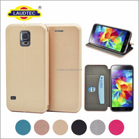Premium Leather Flip Case Cover full cover wallet cases for Samsung S5