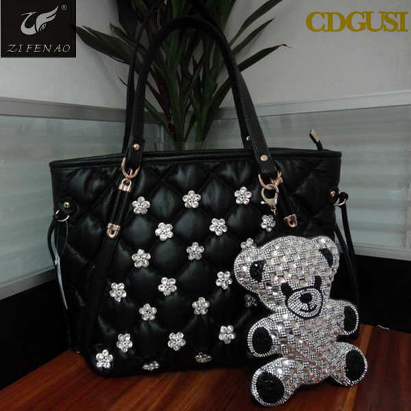 Euorpean style purses rhinestones handbags new design pendant ladies handbags