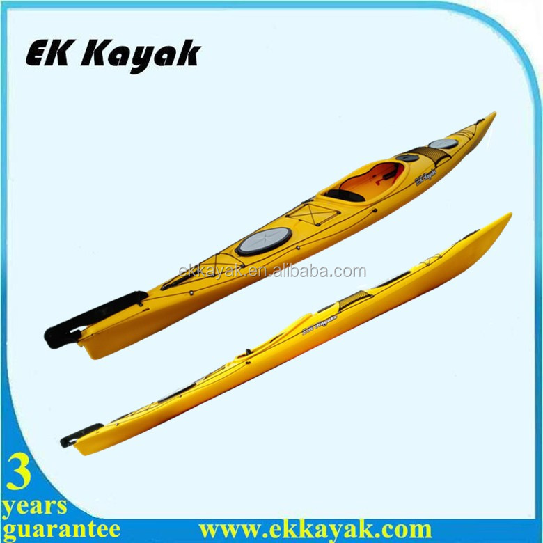 Single Sit In Sea Fishing Kayak With Foot Pedal And Rudder