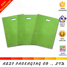 wholesale cheapest polyplopylene eco friendly non woven shopping bag with die cut handle