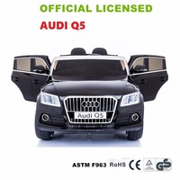 Newest Licensed AUDI SUV Q5 12V Battery Powered Kids Ride On Car Double Door Two Seat Children Electric Ride-On Toys Cars