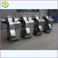 500kg/h vegetable slicer shredder dicer chopper with cutting size 3-20mm