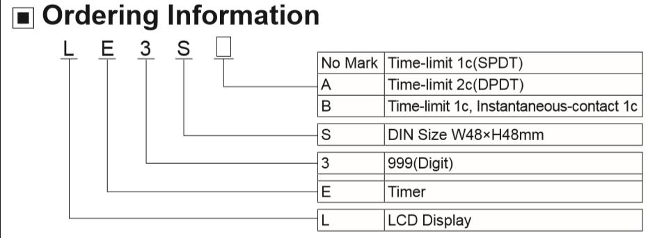 Autonics timer LE3S ONE NEW