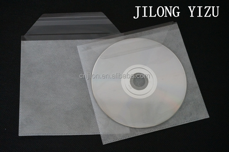 Self Seal PP Non-woven CD DVD Plastic Sleeve
