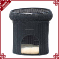 Decorative 2 tier fashion rattan indoor dog bed pet cat play house large cat cages