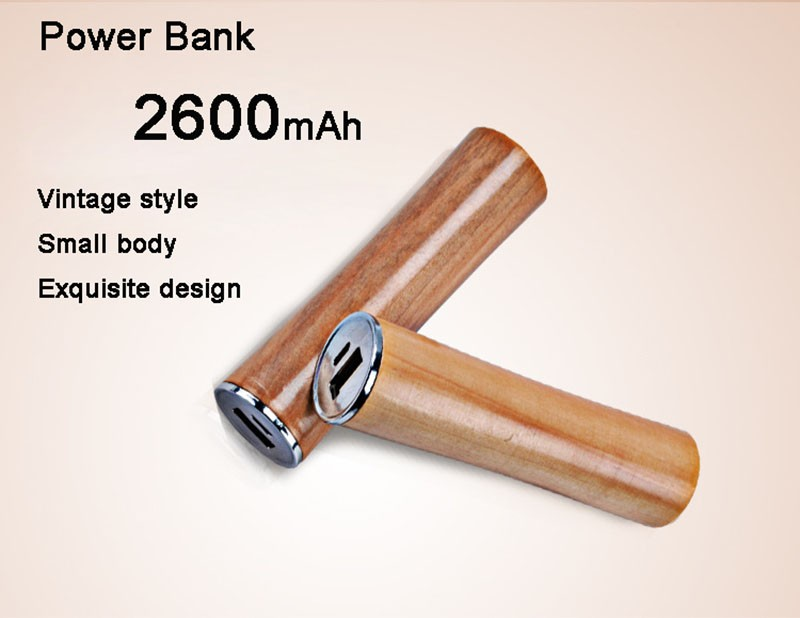 New Products 2017 OEM Perfect Design Wooden Portable Power Bank Charger