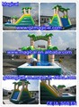 Funny kids and adult inflatable pool slides for inground pools