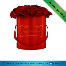 luxury gift packaging flowers ribbons packaging round hat box for roses