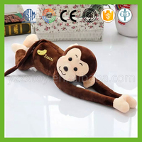 Hot selling stuffed plush red hanging monkey with long legs