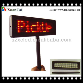 PBMLD-O735-M rechargeable battery to single line LED paging board screen