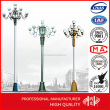 12m Galvanized Decorative Street Lighting Pole with Single/Double Arms