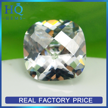 wholesale white rounded corners synthetic semi precious cz stones