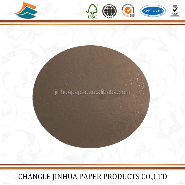 China manufacturing grey card golden paper board for cake/paper board
