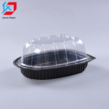 Customized PP disposable lunch box fast food box for fried chicken packaging trays