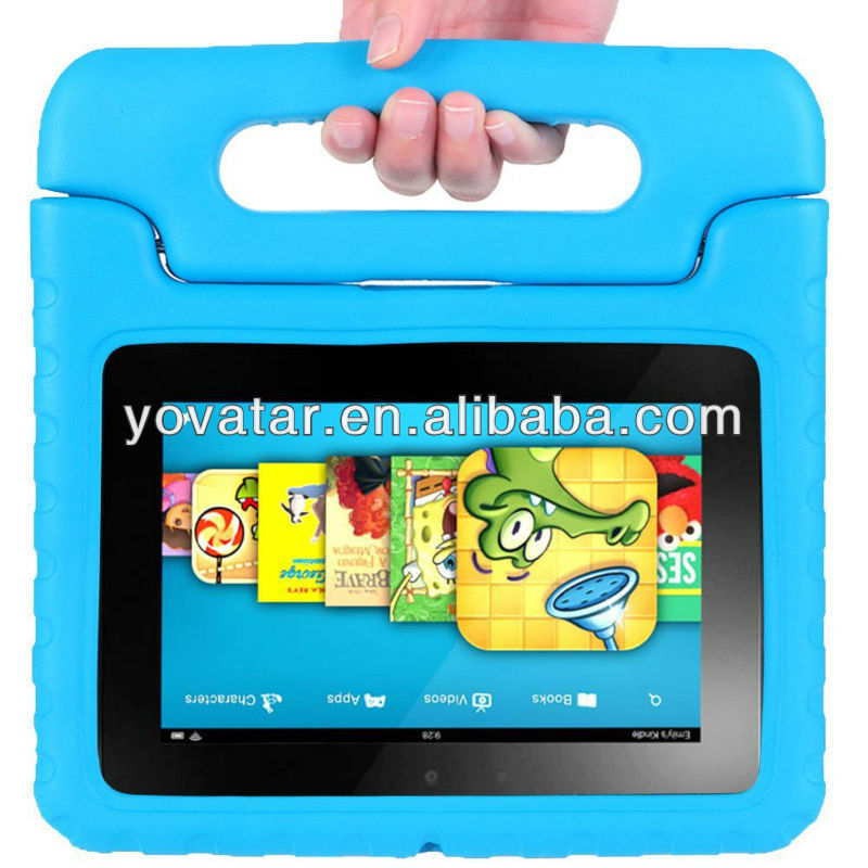Hot Design Kids Blue EVA Light Weight Super Protection Case for Amazon Kindle Fire HD 7 Inch Tablet