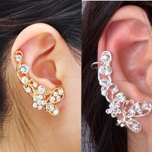 Barlaycs butterfly non pierced female fashionearrings anti allergy earrings 65
