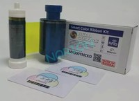 REAL COLORS Compatible Magicard Ribbon MA300 YMCKO 300 Images for Magicard Rio Pro, Enduro Pro, Pronto Card Printer