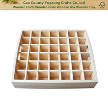 Handmade 42 holes Essential Oils Wooden Tray Natural Pine wood without paint