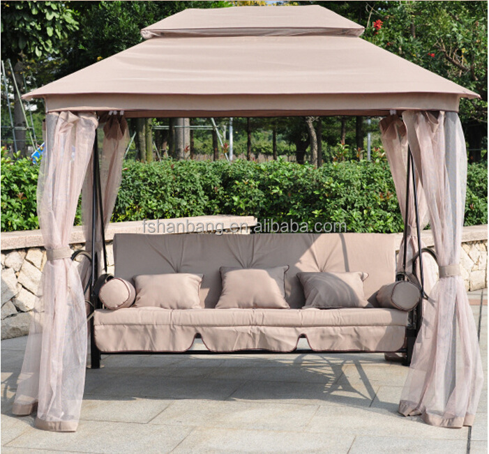 Outdoor Garden 3 person swing with canopy
