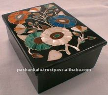 Black Marble Inlay Boxes