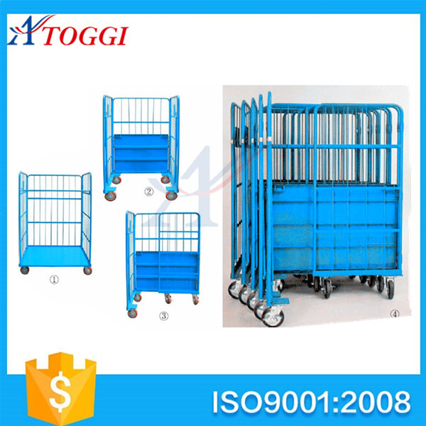 500kg folding industry roll cage container carts