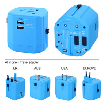Colorful New Travel adapter with 2 USB charger USB output 2500mA